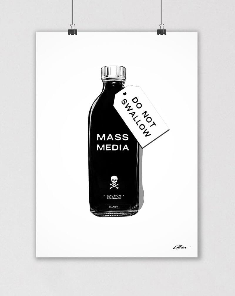 mass media do not swallow poster