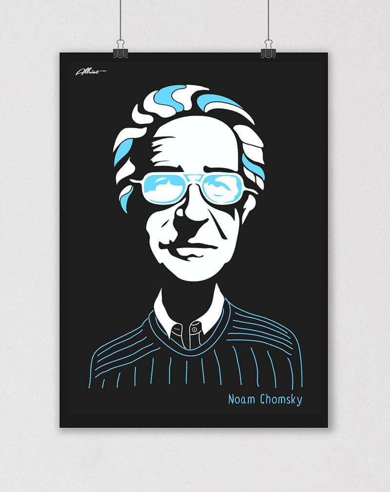 noam chomsky political poster