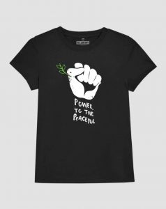 power-to-thepeaceful-tshirt-for-women