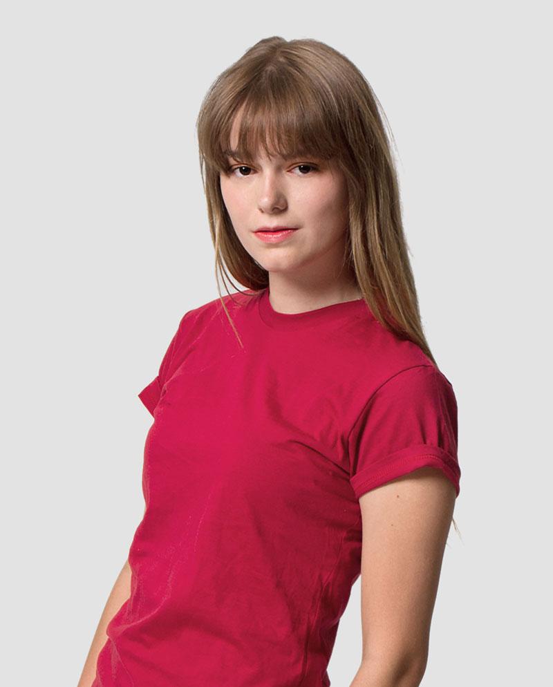 womens tees plain no print red