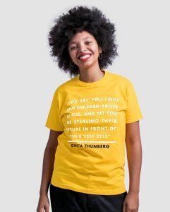 greta-thunberg-t-shirt-school-strike-for-climate-extinction-rebellion