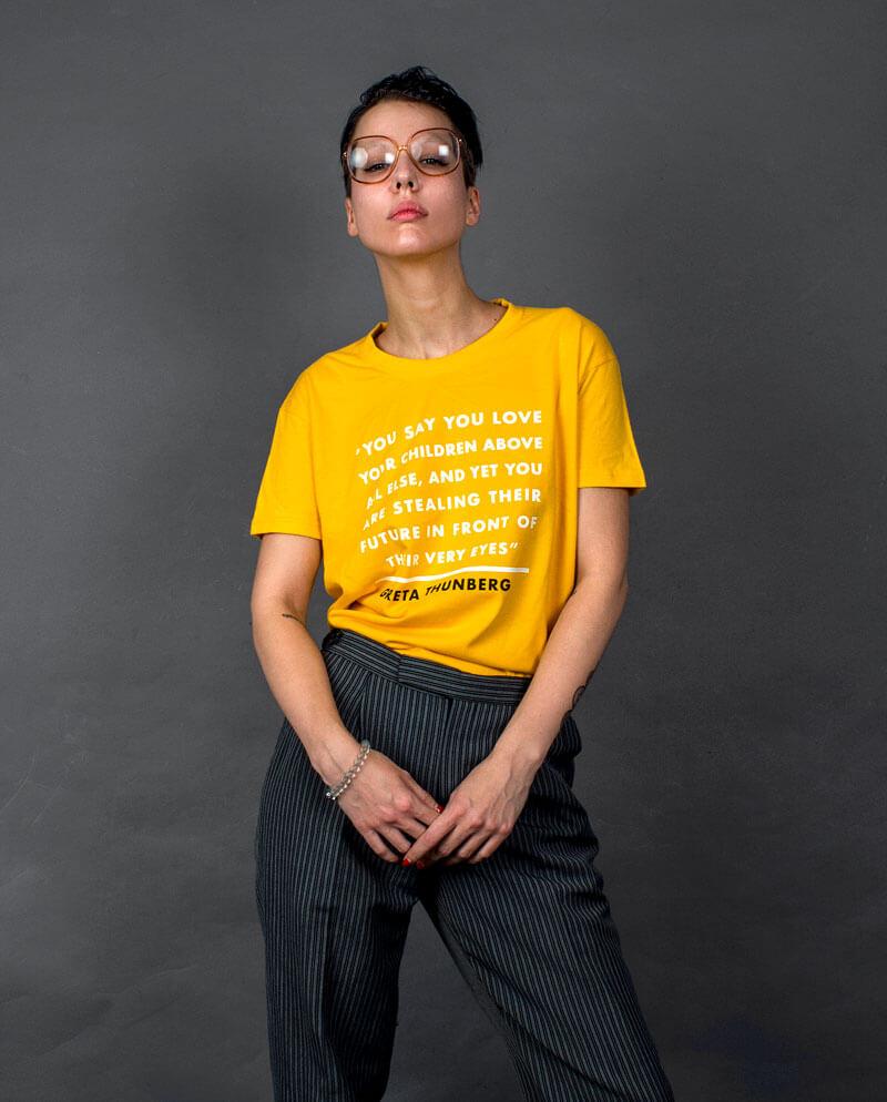 Greta Thunberg school strike for climate t-shirt