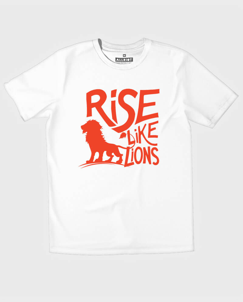 rise like lions t-shirt for the many labour party