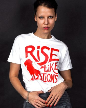rise like lions t-shirt masque of anarchy quote