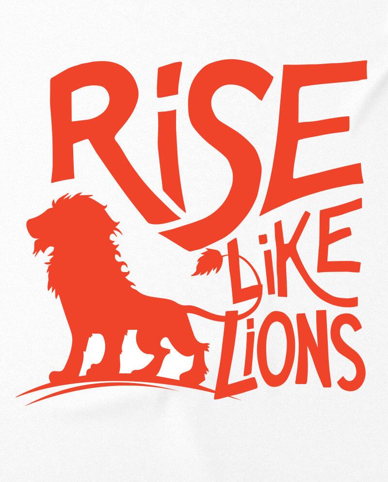 rise like lions t-shirt