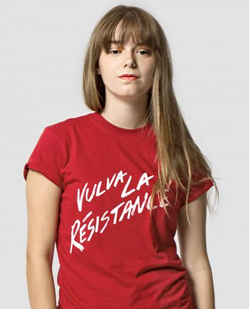 vulva la resistance feminist t-shirt reproductive rights