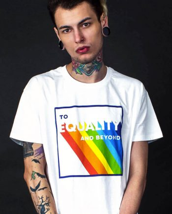 lgbt pride t-shirt to equality and beyond