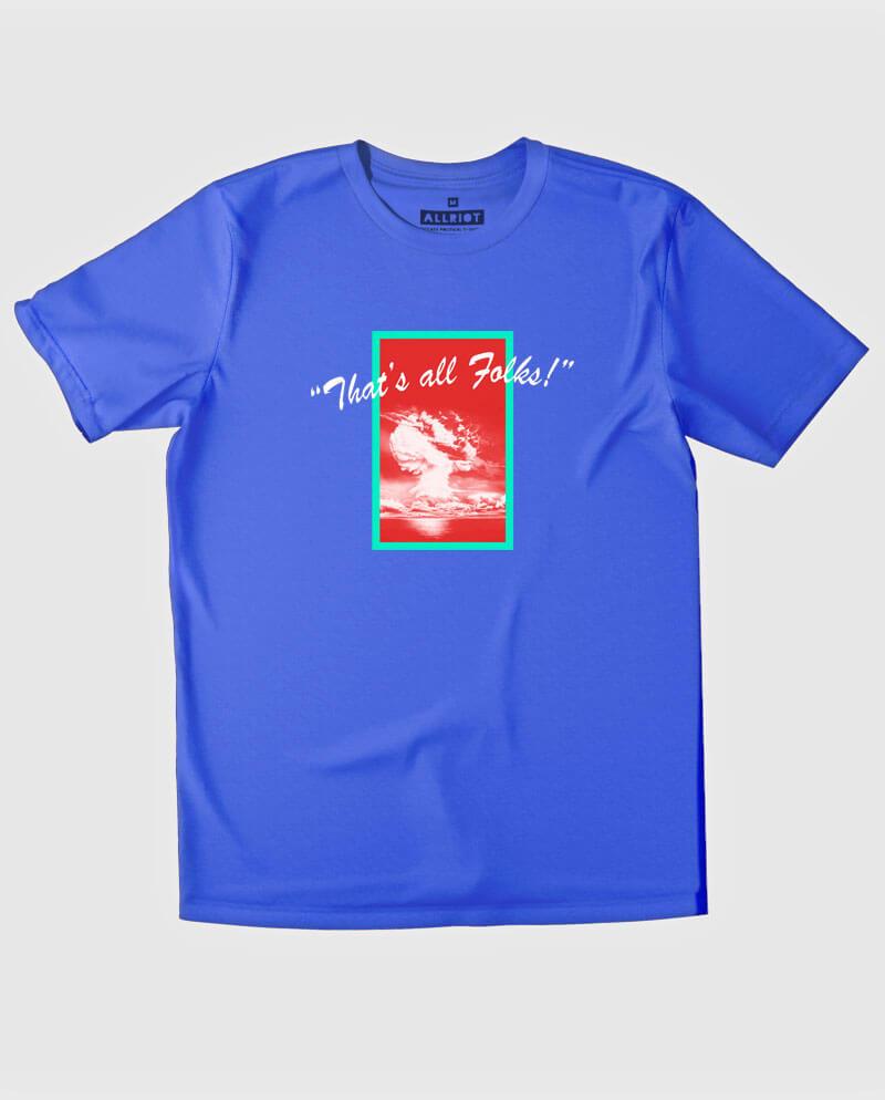 anti nuclear t-shirt that's all folks