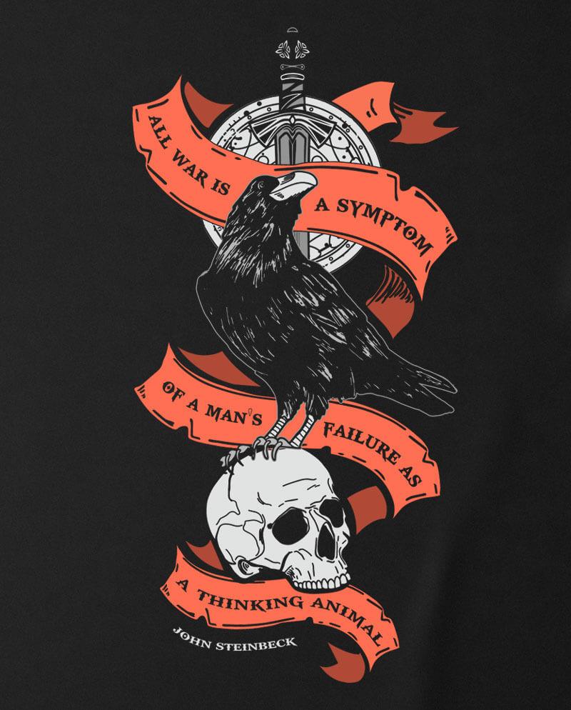 john steinbeck anti war t-shirt