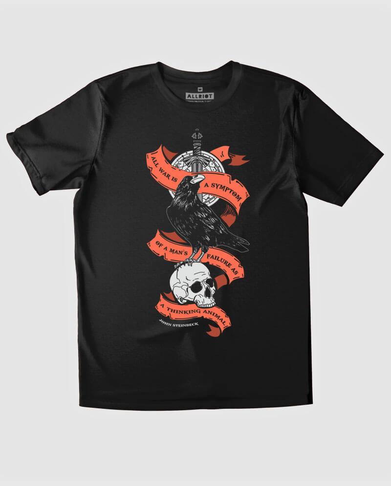 john steinbeck t-shirt anti war graphic tee