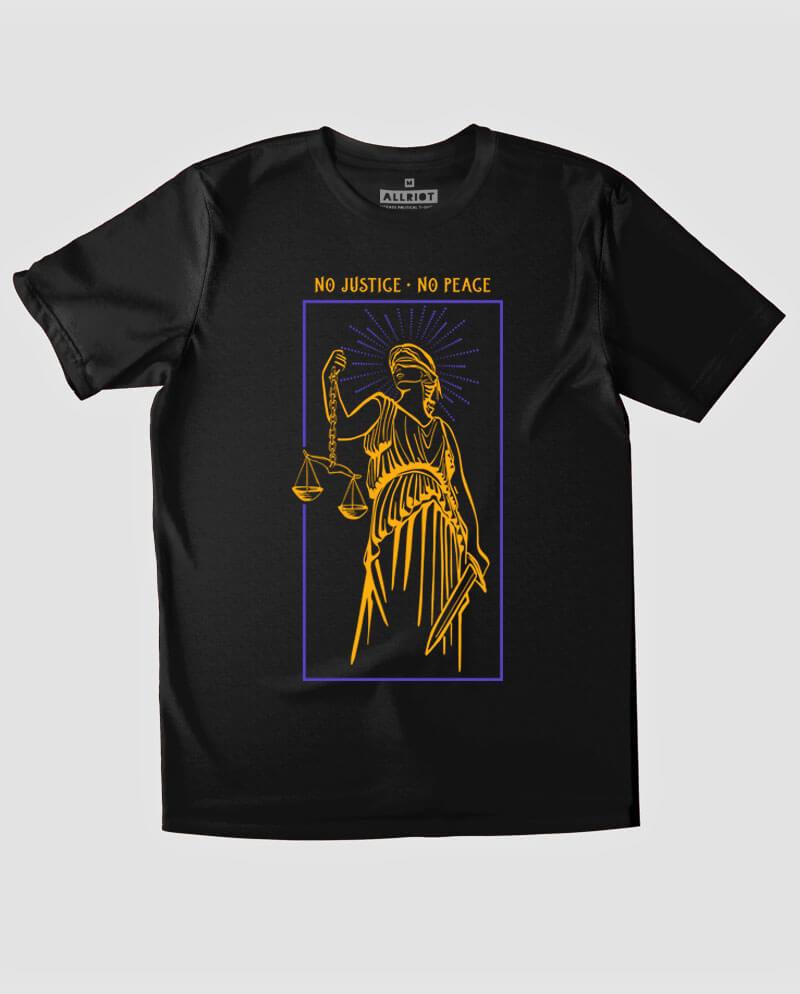 no justice no peace t-shirt black blm