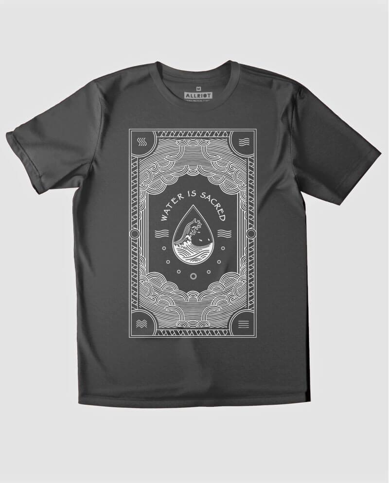 water is sacred tee shirt keep oceans clean