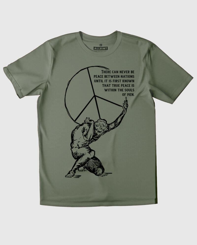 souls of men peace symbol tshirt