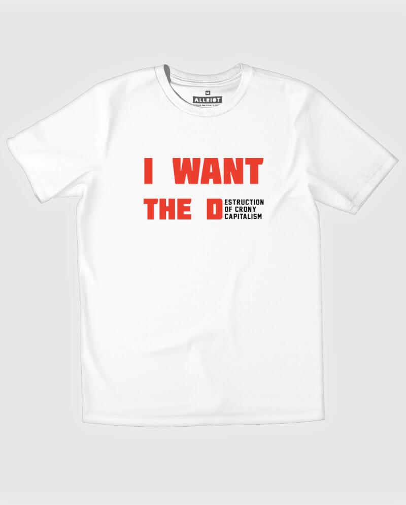 anti crony capitalism t-shirt political funny