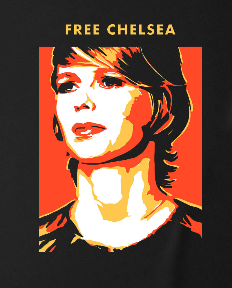 free chelsea manning t-shirt for charity