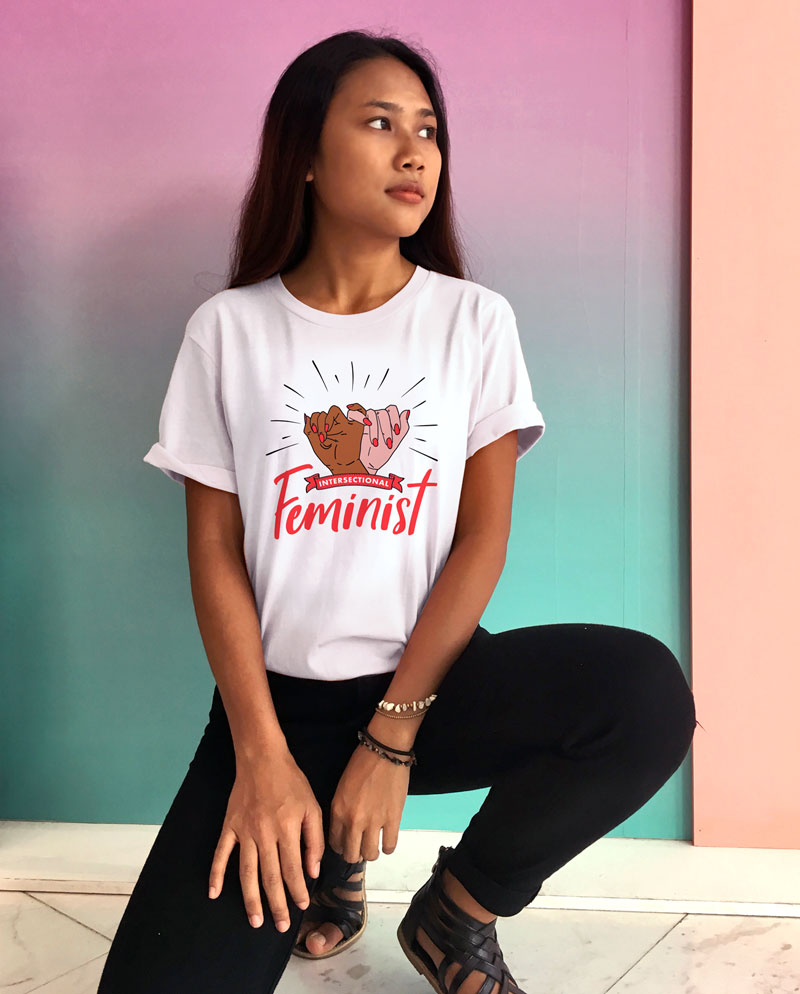 intersectional feminist tee shirt clothing