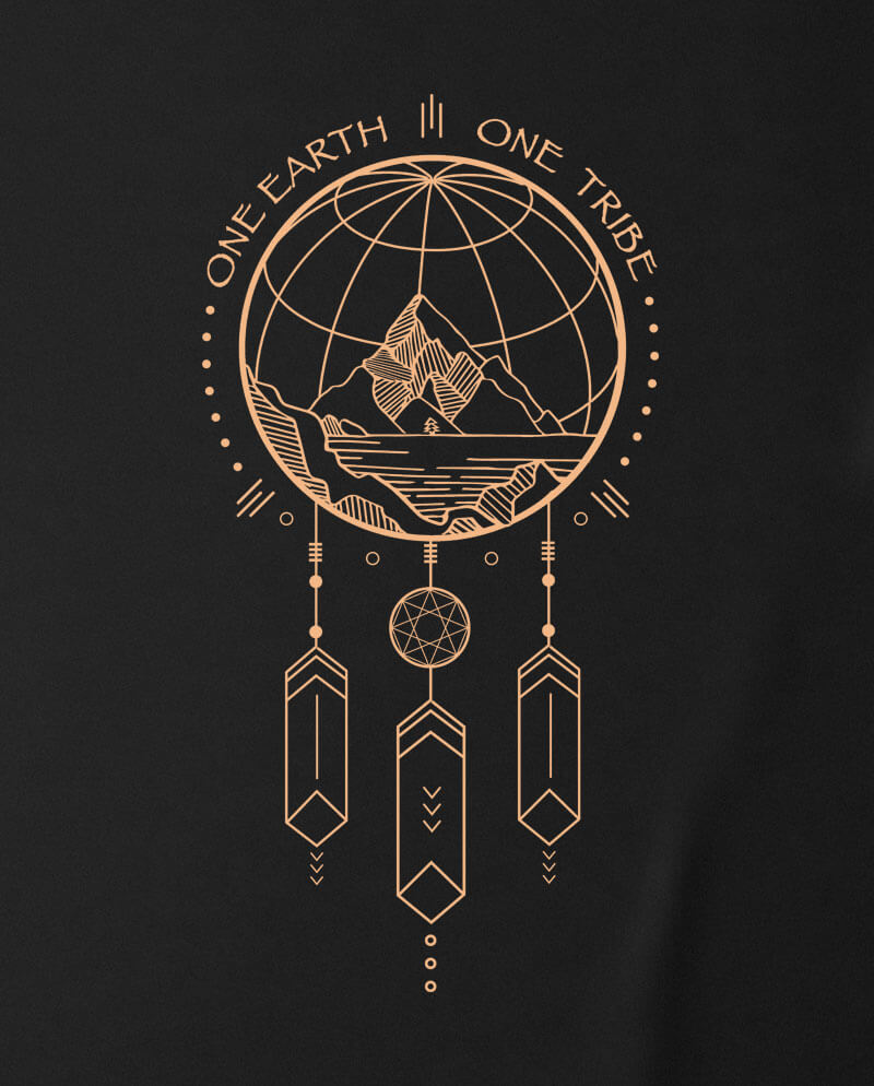 one earth one tribe t-shirt dream catcher