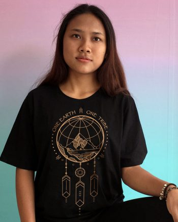 one earth one tribe t-shirt dreamcatcher