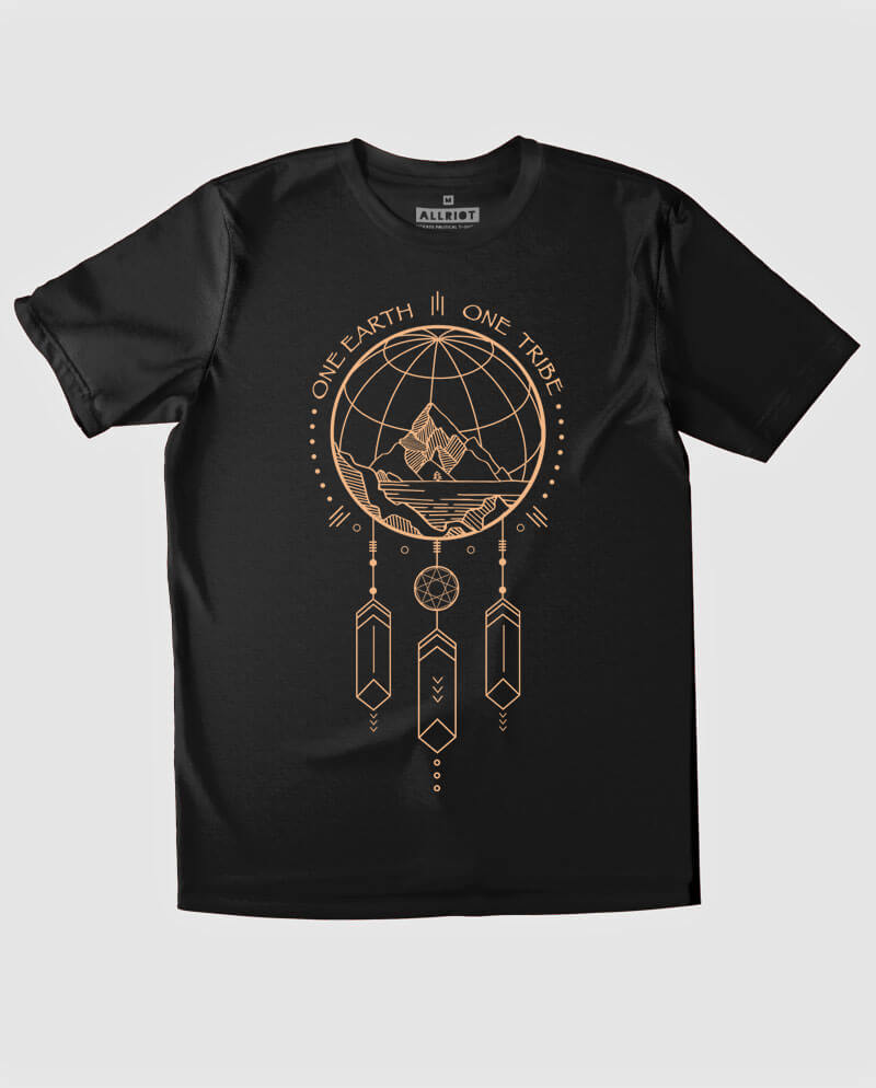 one earth one tribe tee shirt dream catcher