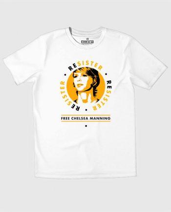 resister t-shirt free chelsea manning fundraiser