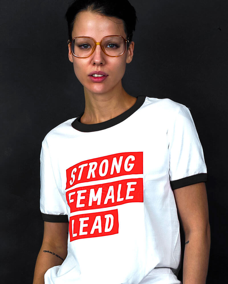 strong female lead t-shirt feminist merch