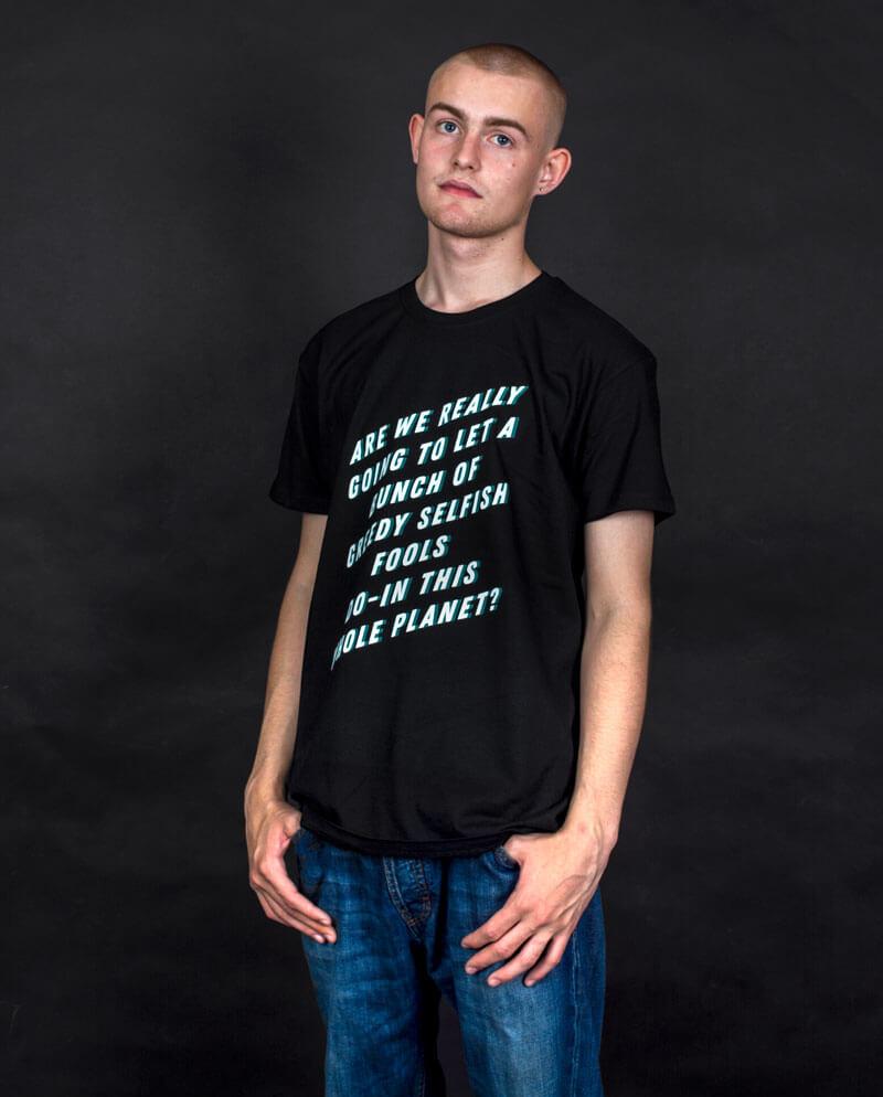 Environmental slogan climate change T-shirt