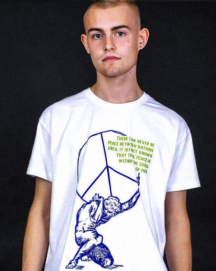souls of men peace sign streetwear political t-shirt