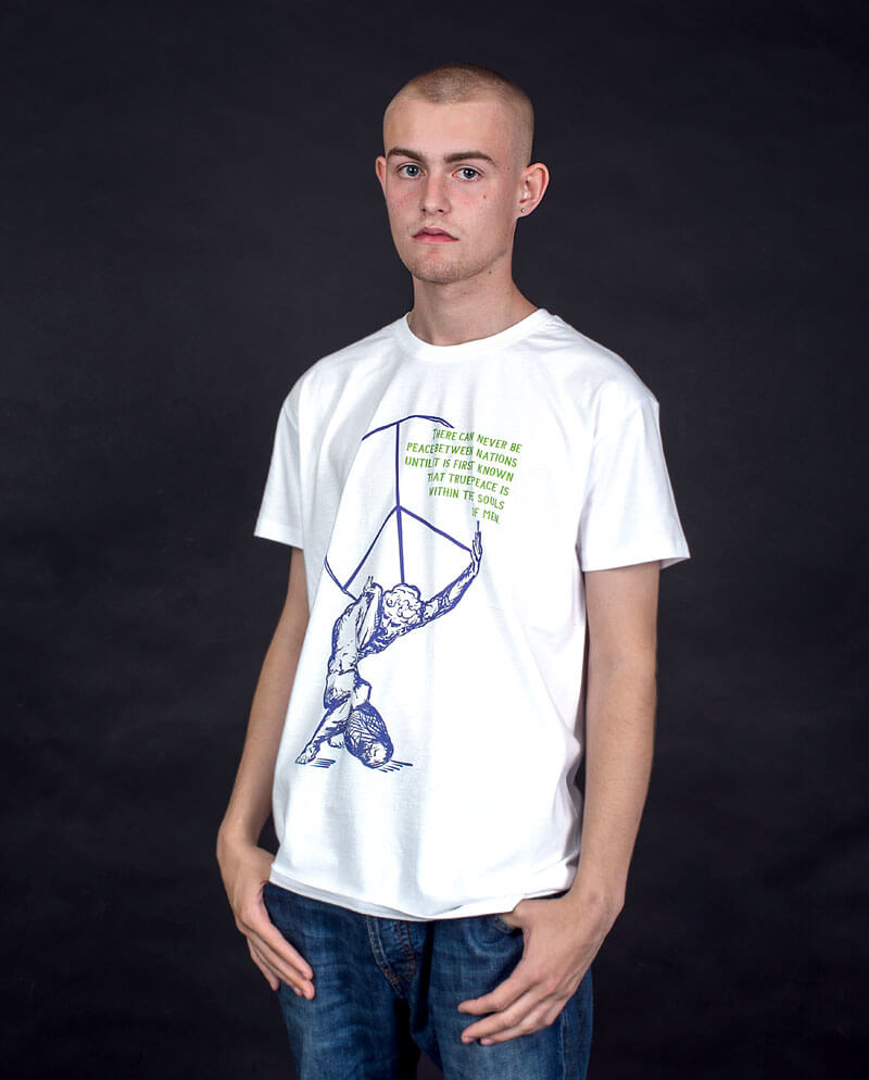 18 Souls of men peace symbol T-shirt