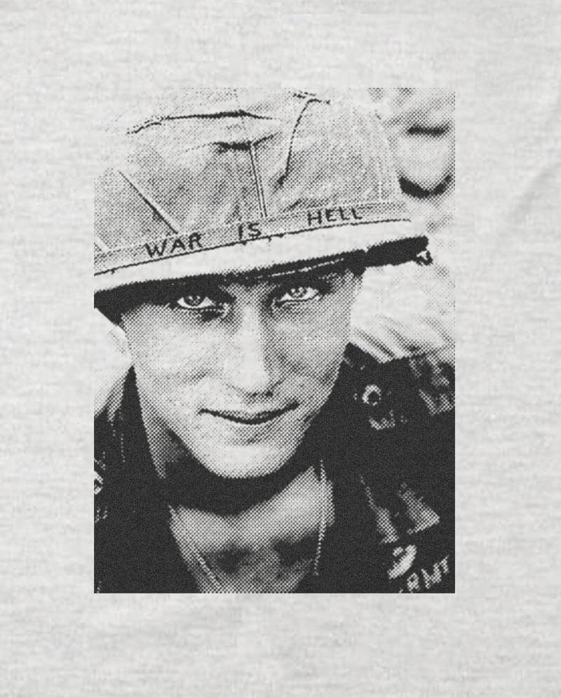 War is hell anti-vietnam war T-shirt