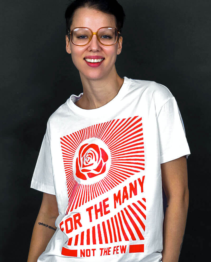 for the many not the few t-shirt vote labour