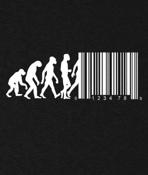 Regression of Man Barcode T-shirt