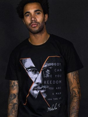malcolm x t-shirt cool political