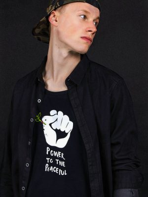 power to the peaceful t-shirt political