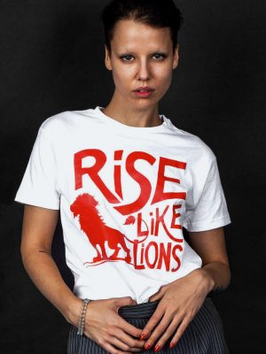rise like lions poem t-shirt masque of anarchy