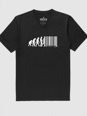 v-neck-t-shirt-march-of-progress-barcode-funny-tee