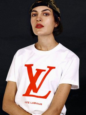 vote labour t-shirt vl logo political tee uk