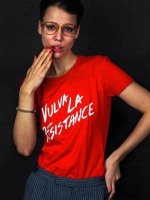 vulva la resistance t-shirt feminist slogan