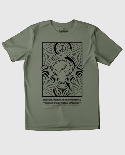 nonviolence t-shirt peace and love