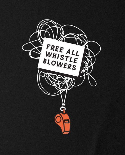 Free All Whistleblowers T-shirt