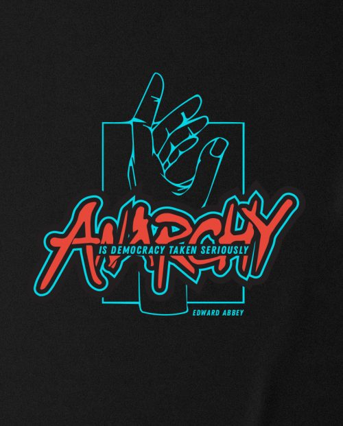 Anarchy is Democracy Taken Seriously T-shirt