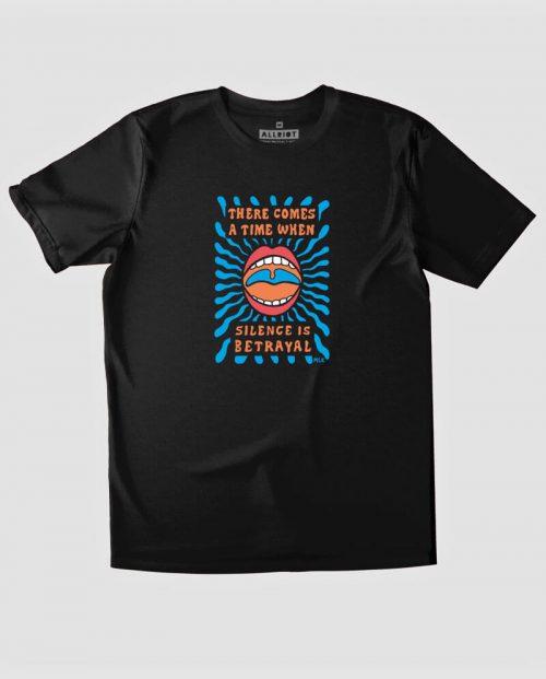 Silence Is Betrayal MLK T-shirt