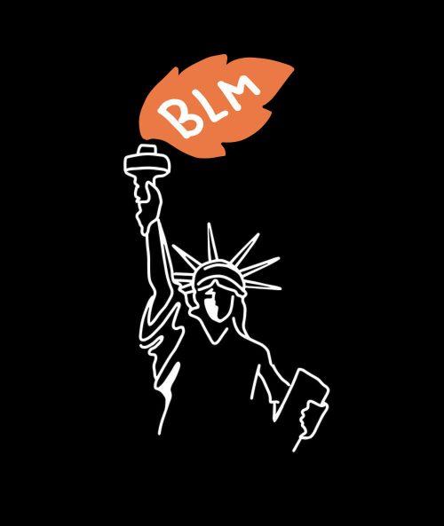 BLM Statue Of Liberty T-shirt