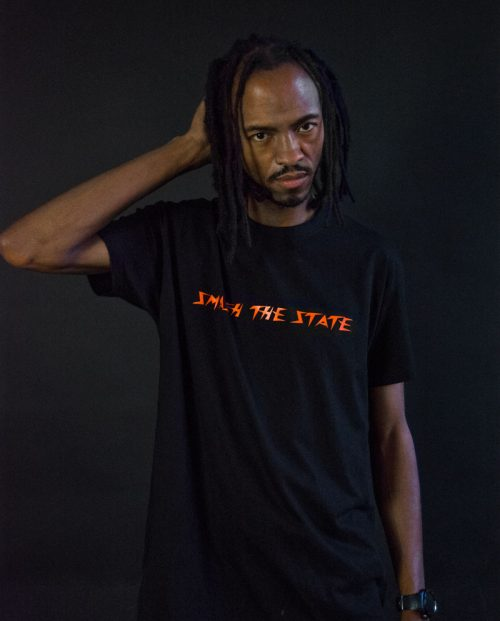 Smash The State Slogan T-shirt